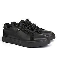 Облегченные черные кеды кожаные кроссовки мужская обувь Rosso Avangard Puran Black Floto EVA