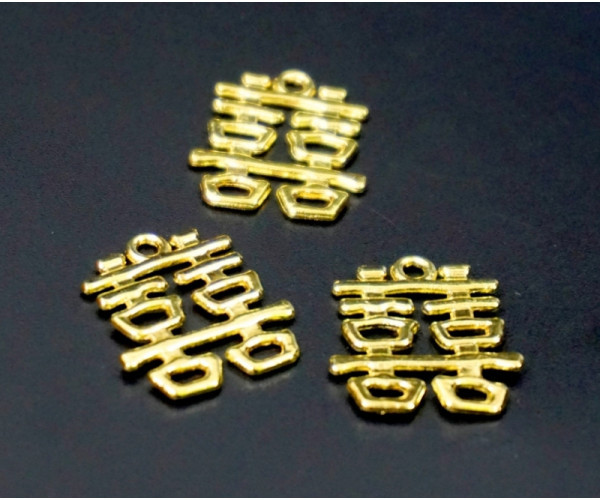 Двойная удача в кошелёк метал в золотом цвете