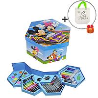 Набір для малювання в розкладний коробочці Міккі Маус, 46 предметів + подарунок Сумка розмальовка!, фото 1