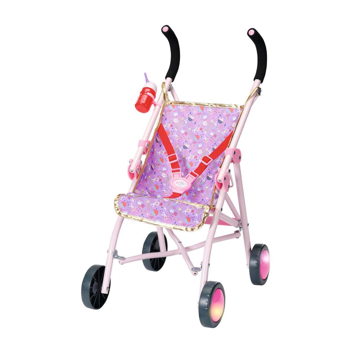 """Коляска для кукол Baby Born """"Яркие огоньки"""" (складная, свет, высота до ручки 62 см), Zapf Creation 3+ (829950)"""