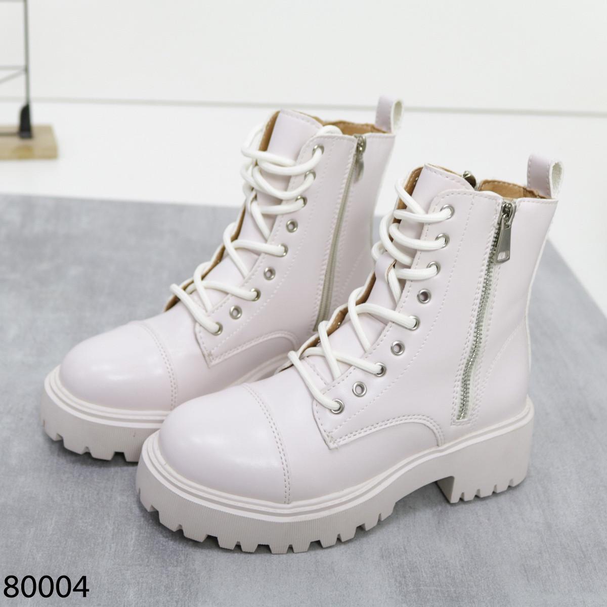 Білі черевики 80004 (SH)