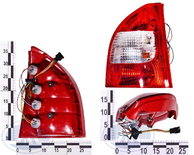 Ліхтар задній ВАЗ 1117 правий ДААЗ