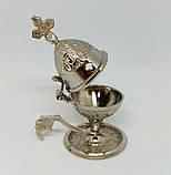Кадильница малая под серебро с чеканкой, высота 11см (Греция), фото 2