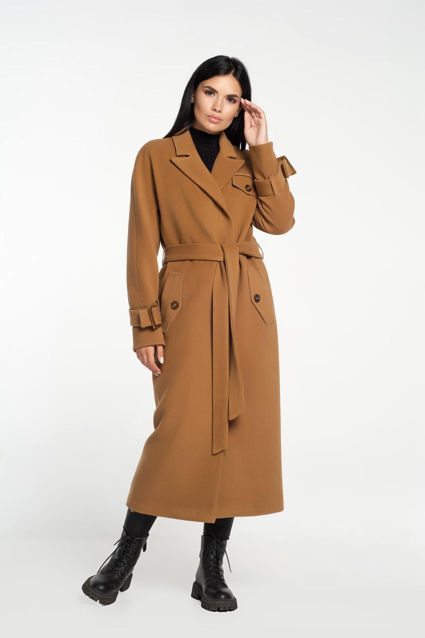 Пальто-тренч бронзове