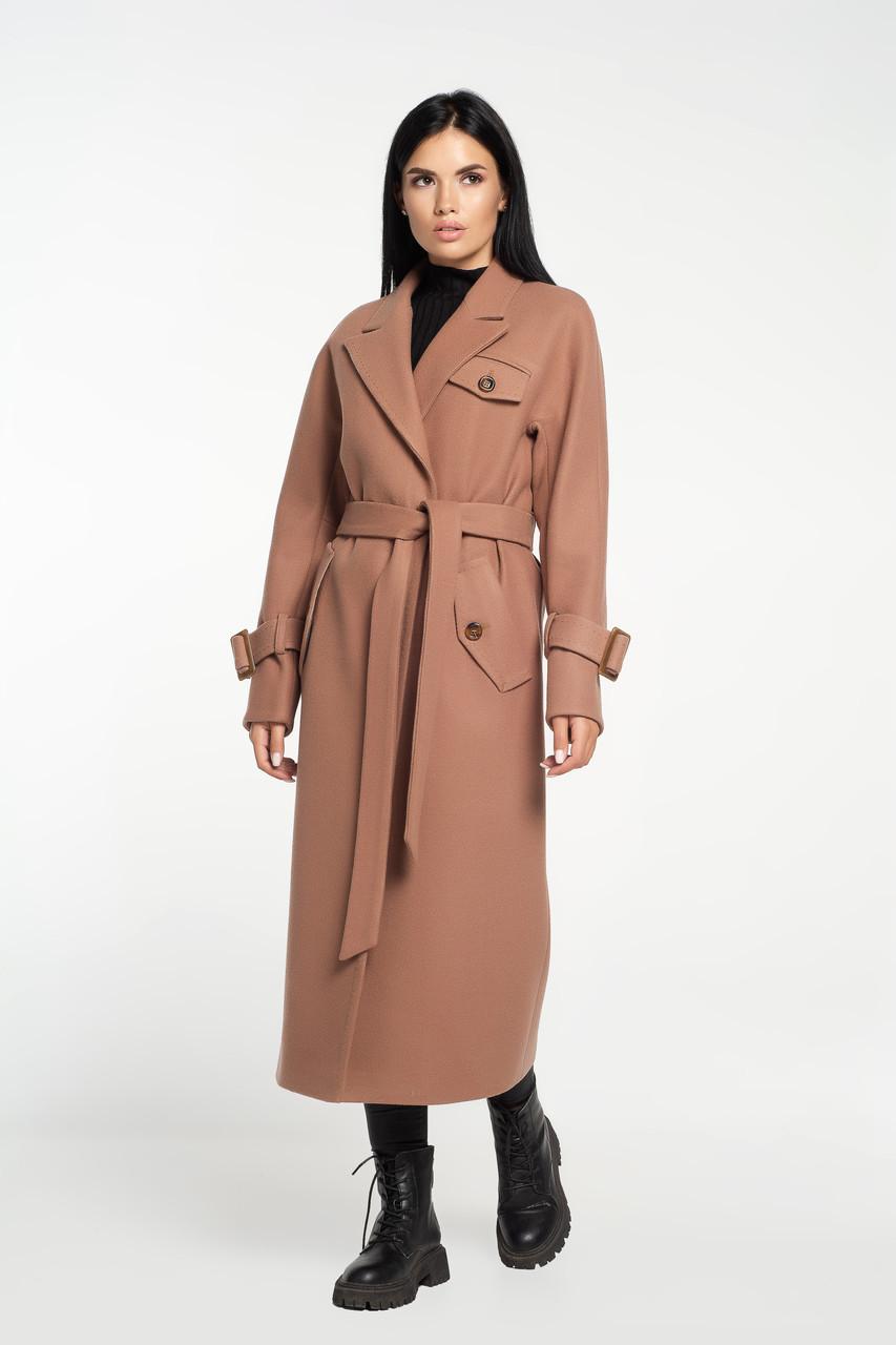 Пальто тренч кэмел