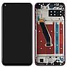 Дисплей (екран) для Honor Play 3 + тачскрін, чорний, з передньою панеллю червоного кольору, Charm Red