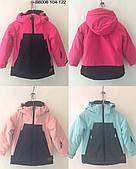 Зимняя детская термо куртка  для девочек  оптом 104--122см