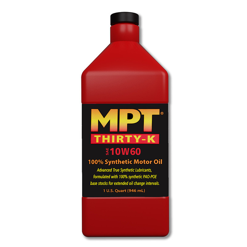 MPT ® 10W-60 Thirty-K 100% Full Synthetic Motor Oil