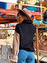"""Стильный женский модный свитер разноцветный """"Луиза""""  Модные трехцветные свитера женские, фото 2"""