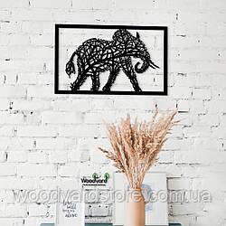 Декоративное панно из дерева. Декор на стену. Слон - Дерево