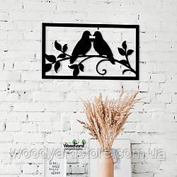 Декоративное панно из дерева. Декор на стену. Птицы Любовь