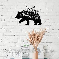 Декоративное панно из дерева. Декор на стену. Лесная Сказка - Медведь