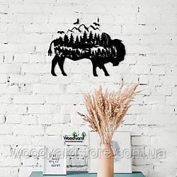 Декоративное панно из дерева. Декор на стену. Лесная Сказка - Буйвол