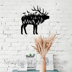 Декоративное панно из дерева. Декор на стену. Лесная Сказка - Олень