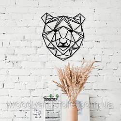 Декоративное панно из дерева. Декор на стену. Медведь
