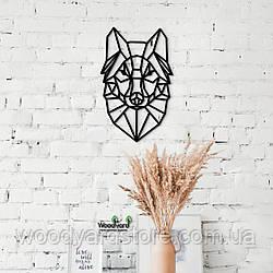 Декоративное панно из дерева. Декор на стену. Волк