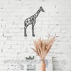 Декоративное панно из дерева. Декор на стену. Жираф