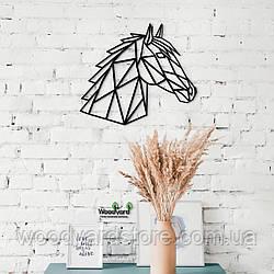 Декоративное панно из дерева. Декор на стену. Голова Лошади