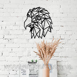 Декоративное панно из дерева. Декор на стену. Голова Орла