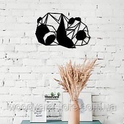 Декоративное панно из дерева. Декор на стену. Панда