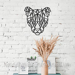 Декоративное панно из дерева. Декор на стену. Пума