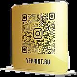 Металлическая Табличка Инстаграм Визитка с qr кодом и без изготовим за 1 час, фото 10