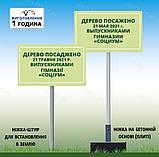 Табличка Знак на металле Распивание спиртных напитков и купание в водоеме запрещено с ногой для установки, фото 4