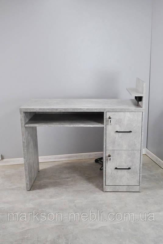 Маникюрный стол для одного мастера в цвете Индастриал, ММ120
