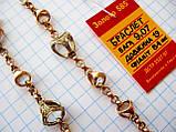 Золотой Браслет с фианитами  9.07 грамма Длина 19 см. Золото 585 пробы, фото 8