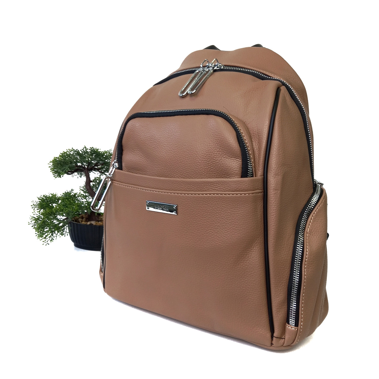 Рюкзак для дівчини штучна шкіра беж Арт.BRL-9057 khaki Johnny (Китай)
