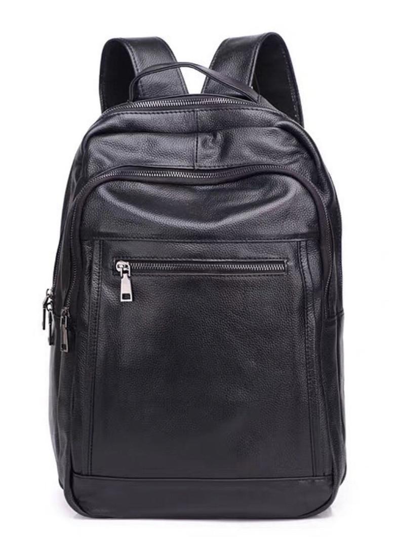 Чоловічий шкіряний рюкзак Keizer K168014-black