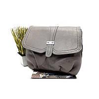 Жіноча сумка штучна шкіра сірий Арт.1729 KenGuru (Китай)