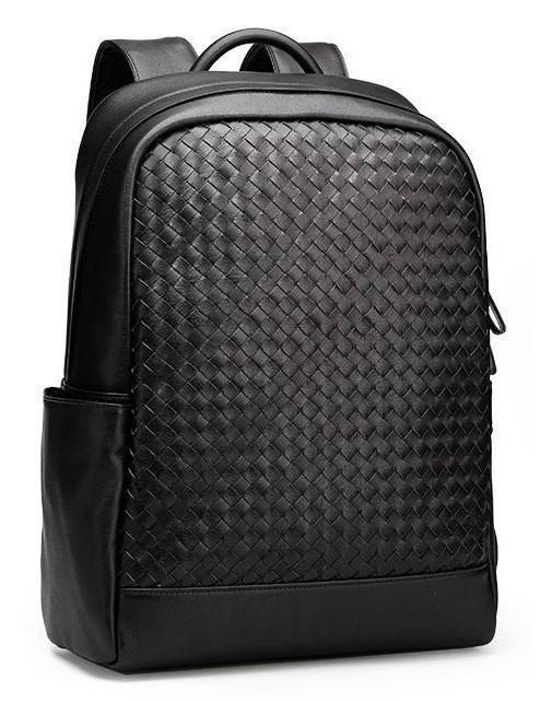 Мужской кожаный рюкзак Borsa Leather k168008-black