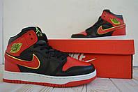 Nike Jordan женские кроссовки высокие джордан найк красные кеды