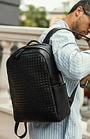 Мужской кожаный рюкзак Keizer k1336-black