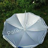 Пляжний зонт блакитний з пальмами 2 метри колір 3а, фото 2