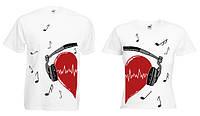 """Парная футболка """"Music Love"""""""