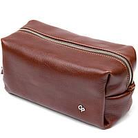 Шкіряна чоловіча сумочка GRANDE PELLE 11418 Коричневий