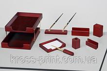Набор настольный из натурального дерева CLASSIC, 8 предметов, красное дерево