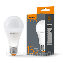 Лампа LED, 15W, E27, 4100K, 220V, VIDEX