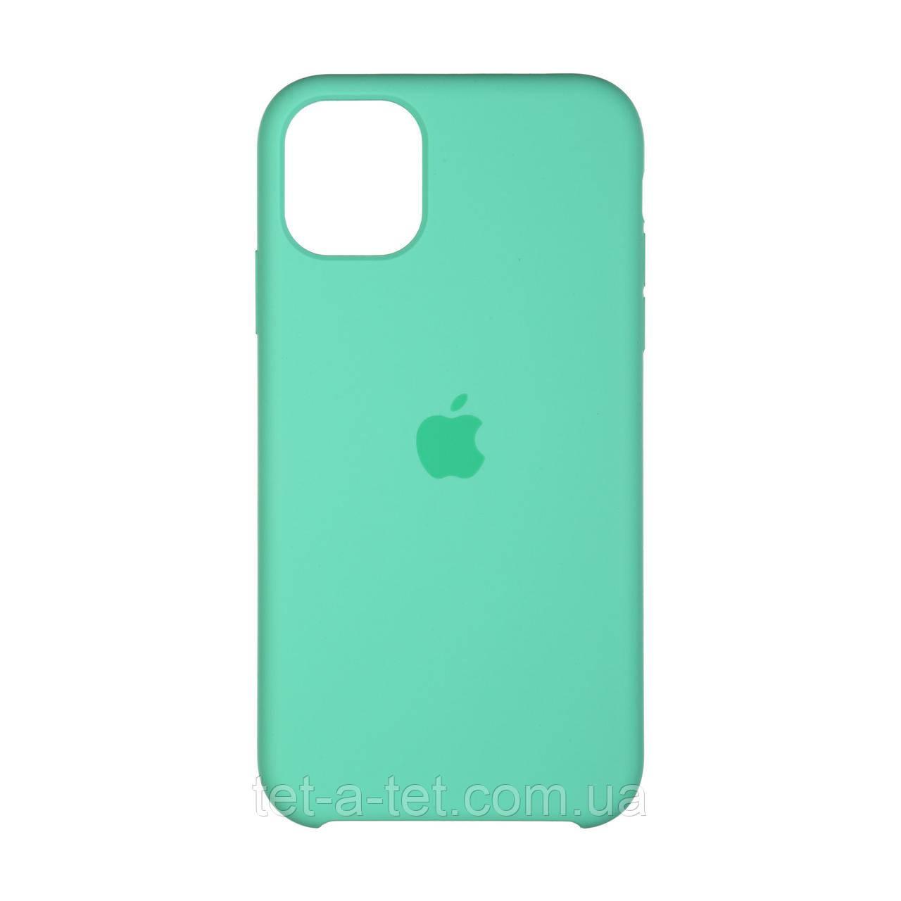 Чохол силіконовий для Apple iPhone 11 Silicone Case (High Copy) - Spearmint (Світла М'ята)