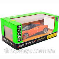 Машинка іграшкова Автопром «Pagani Huayra roadster», 18 см, світло, звук, помаранчевий (68264B), фото 3