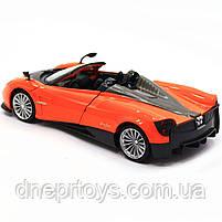 Машинка іграшкова Автопром «Pagani Huayra roadster», 18 см, світло, звук, помаранчевий (68264B), фото 5