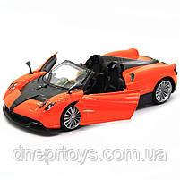 Машинка іграшкова Автопром «Pagani Huayra roadster», 18 см, світло, звук, помаранчевий (68264B), фото 7