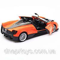 Машинка іграшкова Автопром «Pagani Huayra roadster», 18 см, світло, звук, помаранчевий (68264B), фото 8
