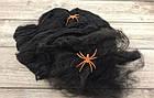 Паутина на хэллоуин  с пауками оранжевая, фото 2