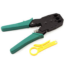 Стриппер обжим витой пары Ou Bao, инструмент для зачистки проводов и кабеля, обжимка rg45   стріппер (ST) М