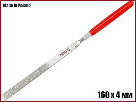 Надфиль плоский алмазный 160 мм Yato YT-6147