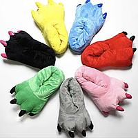 Домашние детские тапочки с когтями Детская яркая комнатная тёплая обувь для ребёнка