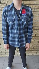 Рубашка мужская байковая теплая, есть большие размеры, плотная высокого качества CANARY, фото 3